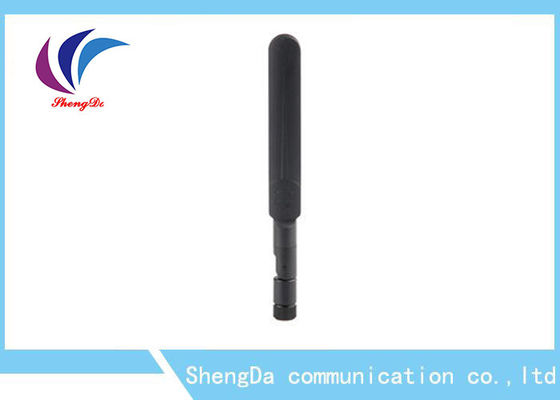 China 3dBi Short Rubber Dual Band Antenna 2.4G / 5.8G IP65 Waterproof With RP - SAM Plug factory