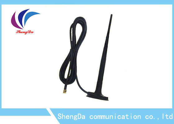 China High Gain 10dBi GSM CDMA Antenna Black Rat Tail Appearance RG174 3M Cable factory