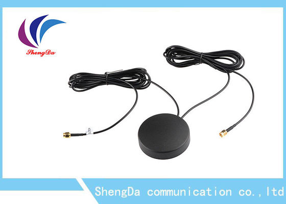 China 4G Auto GPS Antenna 28dbi Gain Two In One Daul Cable Car Screw For Car Navigator factory