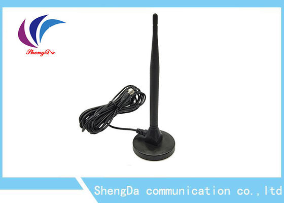 Black Pigtail UHF Digital Tv Antenna , DVB-T Dual Band Long Range HDTV Antenna