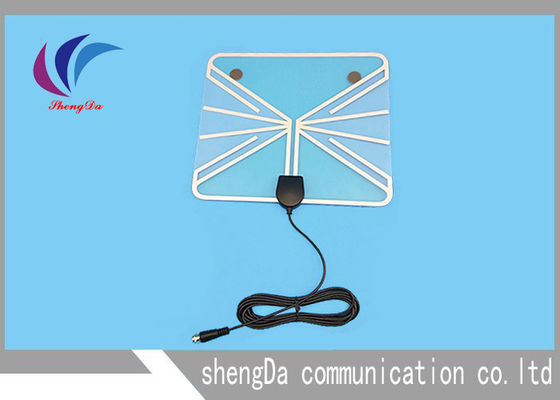 China Amplified Digital TV Antenna , Indoor Television Antennas For Digital TV 360 Degree Reception factory