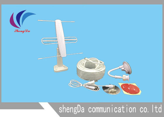 China 3 Element Mini VHF UHF Yagi Antenna , TV Long Range Yagi Wifi Antenna 2 In 1 factory