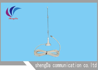 White Double Spring Indoor Wifi Antenna , 2.4 Ghz Wireless Antenna High Perfomance