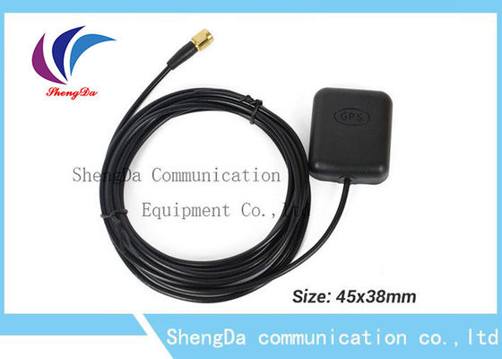 China 1575.42MHz Auto GPS Antenna IP65 Active Remote Aerial With SMA Connector factory