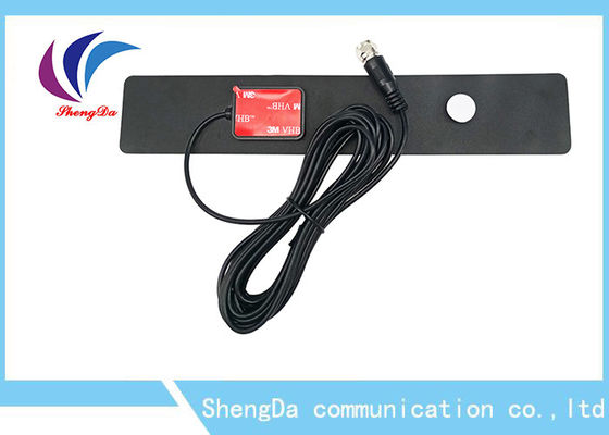 Ultra Thin VHF UHF Digital Antenna Rectangle Shape With IEC / F Male Connector