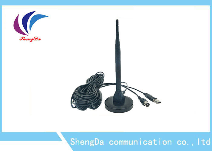 Active Rat Tail UHF VHF TV Antenna Double Plate Amplifier Transmission Security supplier