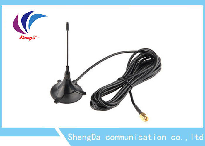 Portable GSM CDMA Antenna 900-1800MHZ  SMA Connector Magnetic Triangle Shape supplier