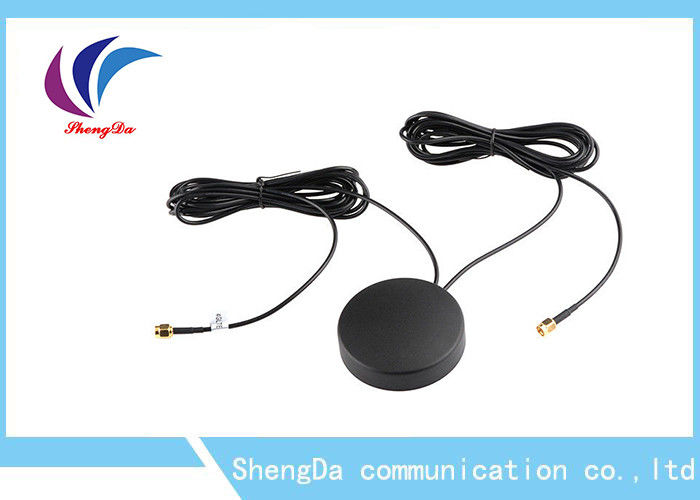 4G Auto GPS Antenna 28dbi Gain Two In One Daul Cable Car Screw For Car Navigator supplier