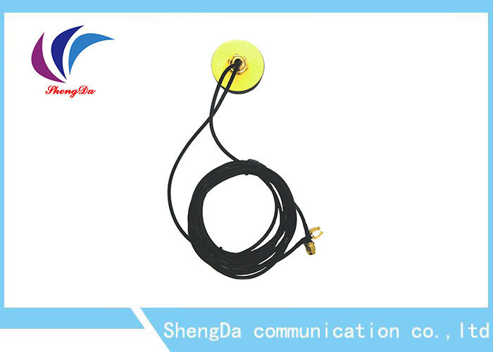 Omni Directional Circular Auto GPS Antenna 50w 3m Cable Length With Amplifier supplier
