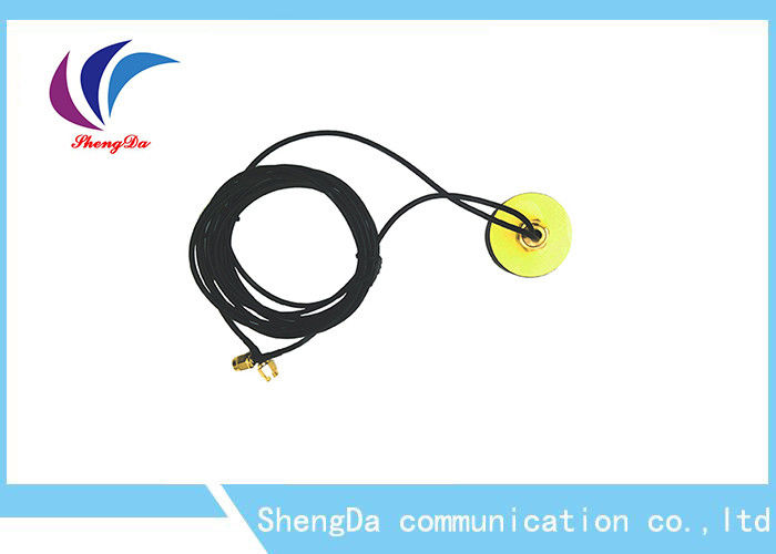 SMA Male Plugvehicle GPS Antenna , Active Magnetic GPS Antenna Universal 1575.42MHz supplier