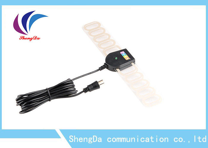 ATSC VHF UHF Long Range Indoor TV Antenna , HD Television Antennas Transparent Appearance supplier