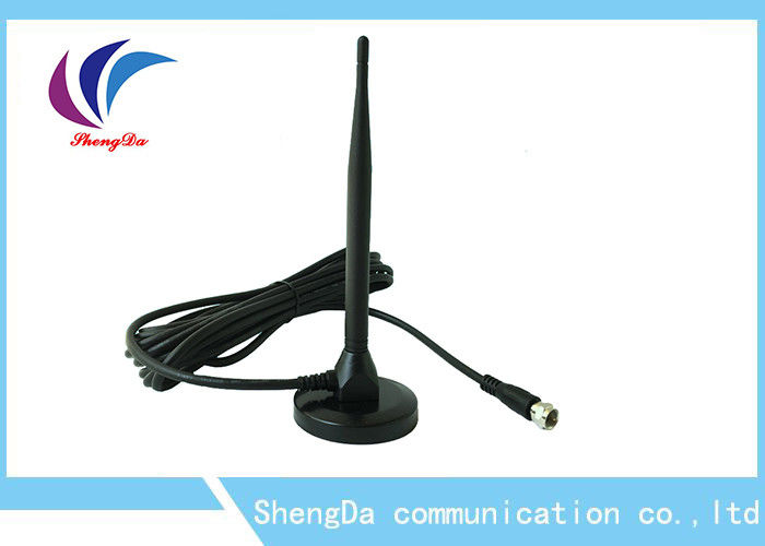 Pigtail UHF VHF Long Range HDTV Antenna , Omni Directional TV Antenna RG58 Cable