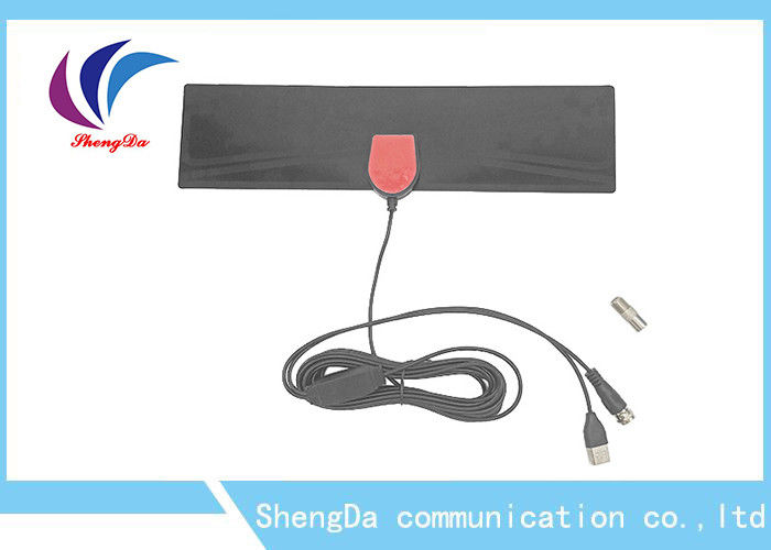 Amplified HDTV UHF VHF TV Antenna Indoor Digital 5dBi Omni Directioanlal Antenna supplier