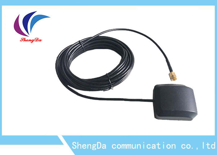 Ceramics Navigation Auto GPS Antenna SMA Male Connector RG174 3 Metre Cable supplier