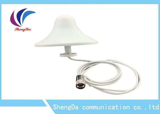 China GSM Indoor Dome Ceiling Antenna , Omni Directional Ceiling Antenna 3dBi Signal Booster distributor