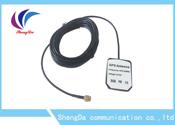 China Active Auto GPS Antenna Built - In Amplifier Satellite Positioning SMA - J Connector distributor