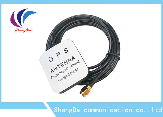 China Waterproof 28dBi Gain Automotive Gps Antenna 1575.42MHz Aerial Strong Magnet distributor