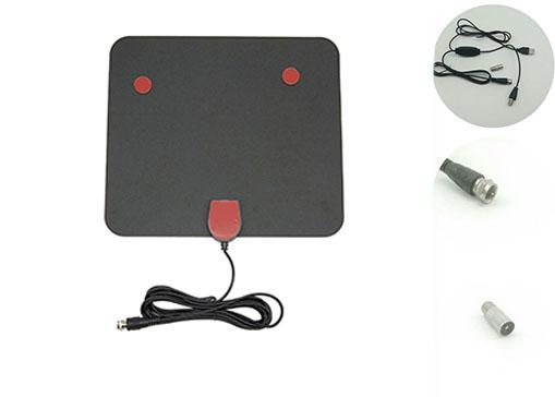 Flat Indoor Digital TV Antenna , UHF / VHF High Definition TV Antenna With Amplifier